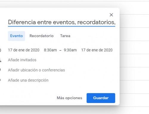 Google Calendar, usos y beneficios para nuestra empresa (2): eventos, recordatorios, tareas y notas