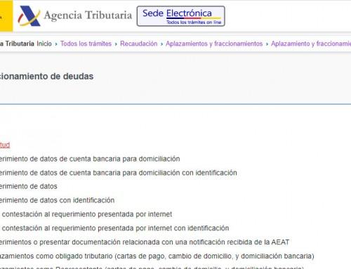 Aplazamiento de la deuda con la Agencia Tributaria a través de su web